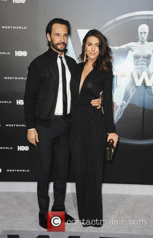 Rodrigo Santoro and Mel Fronckowiak at the premiere of the HBO drama series 'Westworld'  - Los Angeles, California, United...