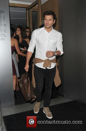 Mark Wright and his wife Michelle Keegan leaving Nobu restaurant together. The pair walked out separately - London, United Kingdom...
