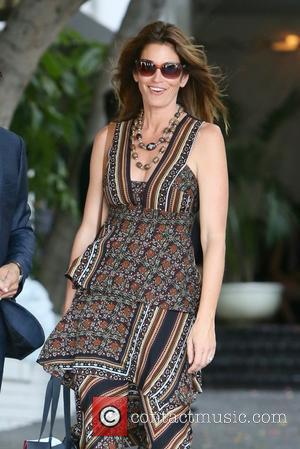 Cindy Crawford seen leaving Revlon's Annual Philanthropic Luncheon held at Chateau Marmont, West Hollywood, Los Angeles, California, United States -...