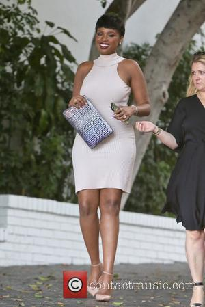 Jennifer Hudson seen leaving Revlon's Annual Philanthropic Luncheon held at Chateau Marmont, West Hollywood, Los Angeles, California, United States -...