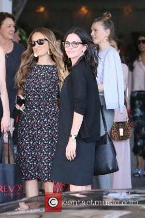 Various celebrities including Jennifer Meyer, Ciara, Sara Foster and Courteney Cox seen leaving Revlon's Annual Philanthropic Luncheon held at Chateau...