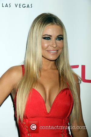 Carmen Electra at the grand opening of the Cherry Boom Boom stage show held at Tropicana Las Vegas, Nevada, United...