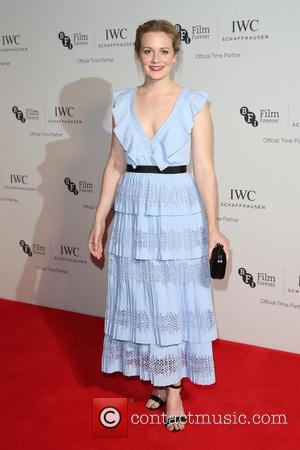 Cara Theobold on the red carpet at the 2016 IWC Gala in honour of The British Film Institute London, United...