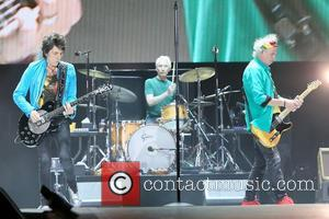 Ronnie Wood, Charlie Watts and Keith Richards