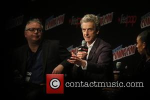 Peter Capaldi and Pearl Mackis speaks about Resident Evil at New York Comic Con held at Javitis Convention Center, Madison...