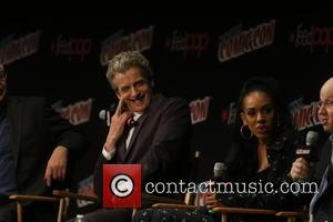 Peter Capaldi and Pearl Mackis