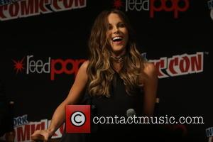 Kate Beckinsale and Theo James  speak about Resident Evil at New York Comic Con held at Javitis Convention Center,...