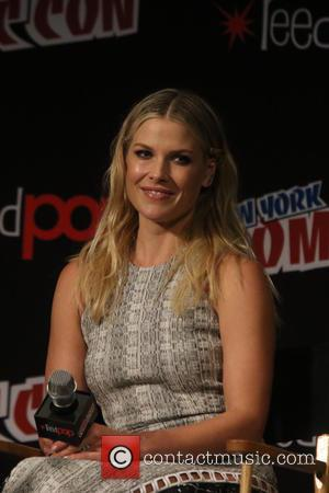 Ali Larter and Milla Jovovich speak about Resident Evil at New York Comic Con held at Javitis Convention Center, Madison...