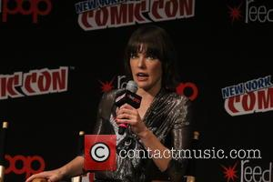 Milla Jovovich speaks about Resident Evil at New York Comic Con held at Javitis Convention Center, Madison Square Garden, New...