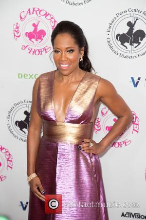 Regina King seen on the red carpet entering the 2016 Carousel of Hope Ball, held at the Beverly Hilton Hotel...