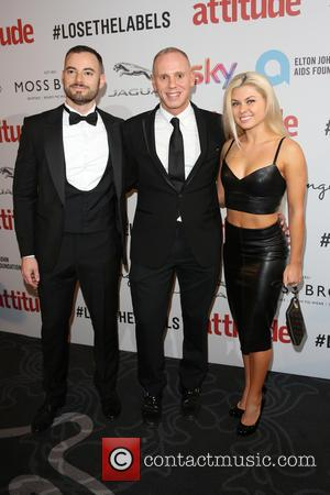 Seth Cumming with Judge Rinder and Oksana Platero on the red carpet at the 2016 Attitude Awards, London, United Kingdom...