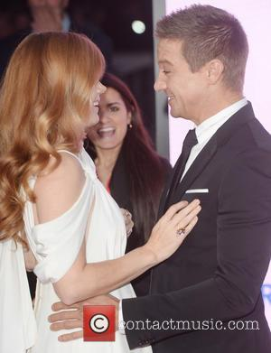 Jeremy Renner and Amy Adams at the BFI London Film Festival premiere of 'Arrival' - London, United Kingdom - Monday...