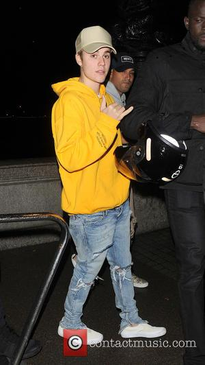 Justin Bieber decided to take the scenic route back to his hotel after performing at London's O2 Arena as part...