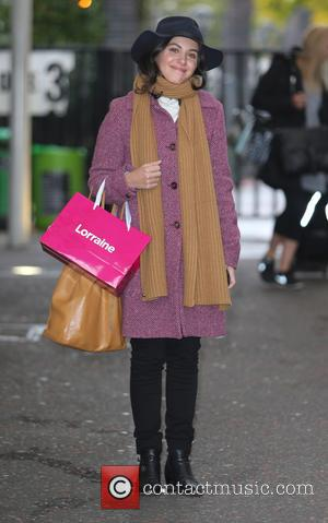 Katie Melua seen outside ITV Studios holding a 'Lorraine' goody bag. - London, United Kingdom - Wednesday 12th October 2016
