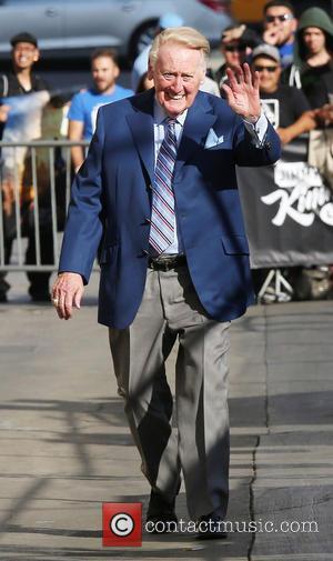 Jimmy Kimmel and Vin Scully