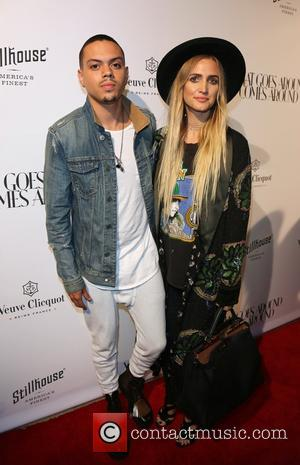 Evan Ross and Ashlee Simpson at the Grand Opening of 'What Goes Around Comes Around' Luxury goods Store in Beverly...