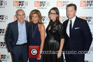 Matt Lauer, Hoda Kotb, Savannah Guthrie and Willie Geist at the 54th New York Film Festival screening of 'Jackie' held...