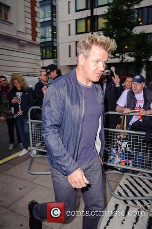 Gordon Ramsay arriving at the studios of BBC Radio 2, in London, for the Chris Evans Breakfast Show. Westminster, London,...