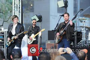 Kings Of Leon (Jared Followill, Caleb Followill, Matthew Followill and Nathan Followill) performing live on NBC's Today show as part...