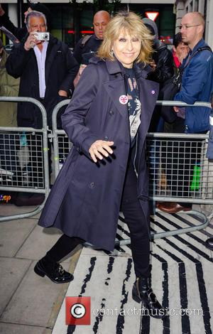 Chrissie Hynde arrives at the BBC Radio 2 studios - London, United Kingdom - Friday 14th October 2016