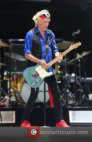 Keith Richards of The Rolling Stones performing on the first day of the second weekend of Desert Trip Festival -...