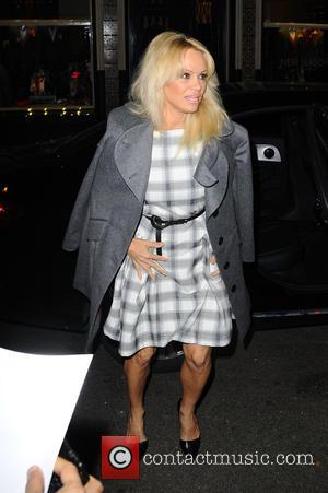 Pamela Anderson at the launch party for 'Get a Life: The Diaries of Vivienne Westwood' held at Saint James Church...