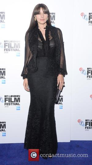 Monica Bellucci at BFI London Film Festival premiere of 'On the Milky Road', London, United Kingdom - Saturday 15th October...