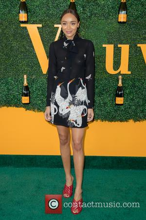 Ashley Madekwe arrives at the 7th Annual Veuve Clicquot Polo Classic held at Will Rogers State Historic Park, Pacific Palisades,...
