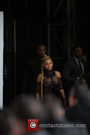 Beyoncé arriving at the Tidal X benefit show for the Robin Hood Foundation, at the Barclays Center in Brooklyn, New...