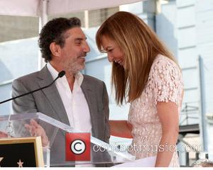 Chuck Lorre and Allison Janney