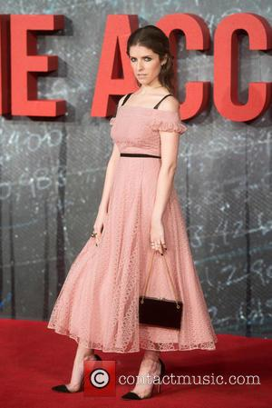 Anna Kendrick poses alone and with Ben Affleck and Cynthia Addai Robinson at the European Premiere of 'The Accountant' held...