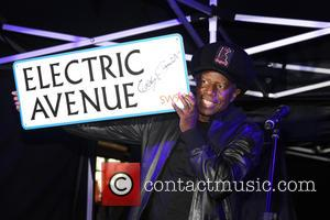 The new Electric Avenue illuminated sign, switched on by Eddy Grant, to mark the completion of £1m refurbishment works along...