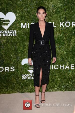 Lily Aldridge arrives at the 2016 Golden Heart Awards Dinner held by the charity God's Love We Deliver held at...