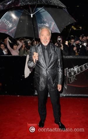 The Voice UK coach Tom Jones promotes the start of the blind auditions for The Voice UK - Manchester, United...