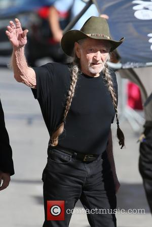 Country musician Willie Nelson seen at the ABC studios for Jimmy Kimmel Live. Hollywood - Los Angeles, California, United States...