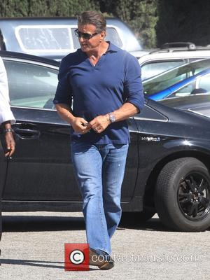 Sylvester Stallone makes a quick stop at Cafe Roma in Beverly Hills, Los Angeles, California, United States - Tuesday 18th...