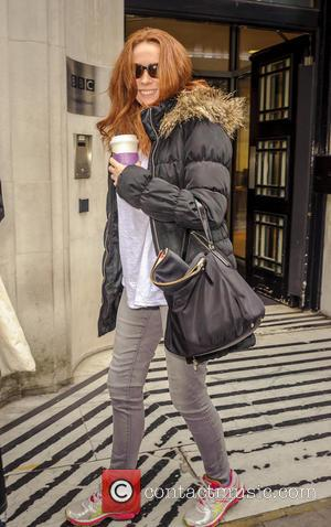 Comedienne Catherine Tate leaving the BBC Radio 2 studios - London, United Kingdom - Wednesday 19th October 2016