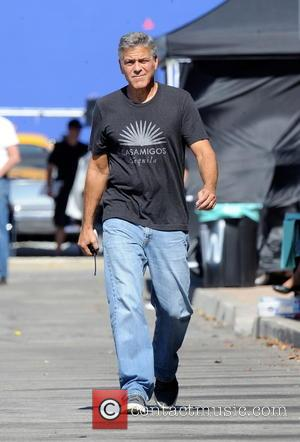 George Clooney directing his new movie 'Suburbicon' which is being filmed in L.A. The film has been written by the...