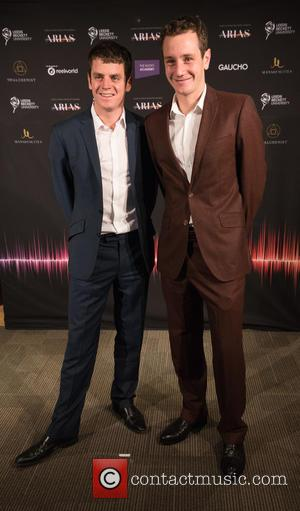 Athletes the Brownlee Brothers seen at the Audio & Radio Industry Awards 2016 (ARIAS) held at First Direct Arena Leeds,...