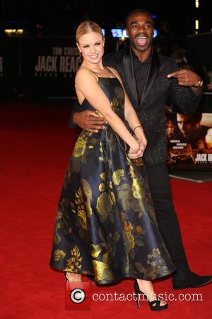 Joanne Clifton and Ore Oduba at the UK premiere of Tom Cruise's new movie 'Jack Reacher: Never Go Back' -...