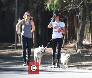Jenna Dewan Tatum takes the dogs for a walk with a friend in Los Angeles, California, United States - Thursday...