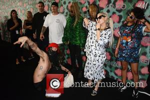 Die Antwoord on the red carpet at the 2016 Kenzo x H&M Show held at Pier 36, New York, United...