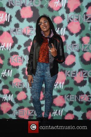Ingrid Burley on the red carpet at the 2016 Kenzo x H&M Show held at Pier 36, New York, United...