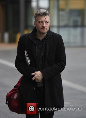Writer Charlie Brooker seen arriving at the BBC Breakfast Studio's in Media City, Manchester, United Kingdom - Thursday 20th October...