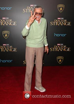 Stan Lee at the premiere of Disney and Marvel Studios' new movie Doctor Strange held at El Capitan Theatre, Disney,...
