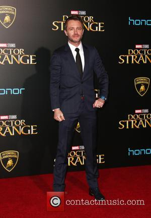 Chris Hardwick with Lydia Hears at the premiere of Disney and Marvel Studios' new movie Doctor Strange held at El...