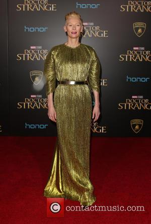 Tilda Swinton seen at the premiere of Disney And Marvel Studios' new movie 'Doctor Strange' held at the El Capitan...