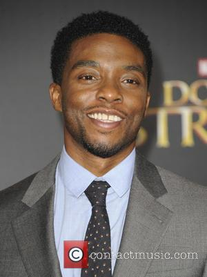 Chadwick Boseman seen at the premiere of Disney And Marvel Studios' new movie 'Doctor Strange' held at the El Capitan...