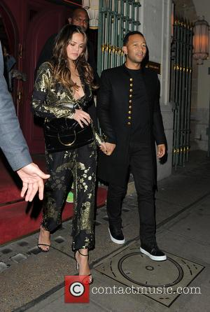 John Legend and Chrissy Teigen go out for date night at Park Chinois restaurant in Mayfair, London, United Kingdom -...