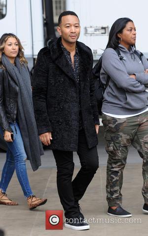 John Legend seen arriving at BBC Radio - London, United Kingdom - Friday 21st October 2016